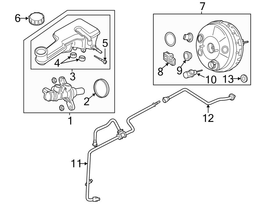 Ford Fusion Power Brake Booster Vacuum Sensor. LITER