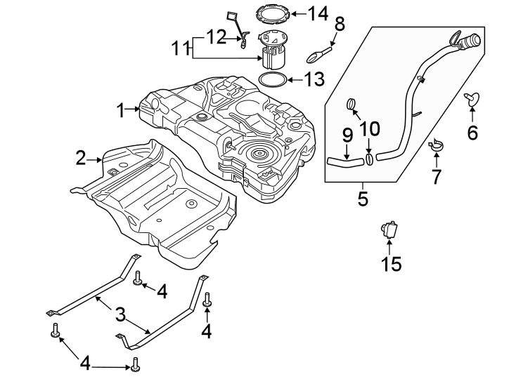 Ford Fusion Fuel Pump Driver Module. LITER, AWD, FLEET