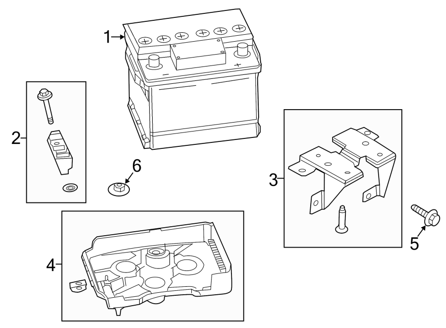 Ford Fusion Battery Hold Down. 2007-12. CONVENTIONAL