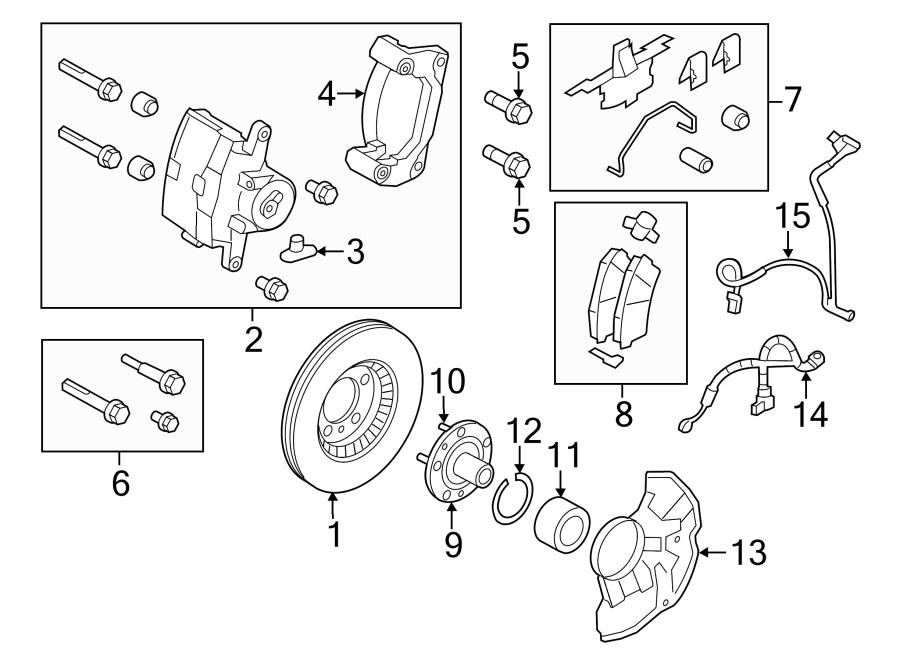 Lincoln MKZ Disc Brake Rotor. FRONT, Left, Make