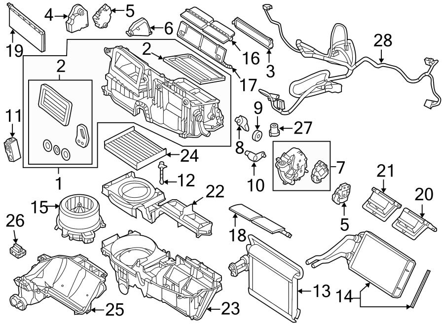 Lincoln MKZ Hvac blend door actuator. Temp, dual, motor