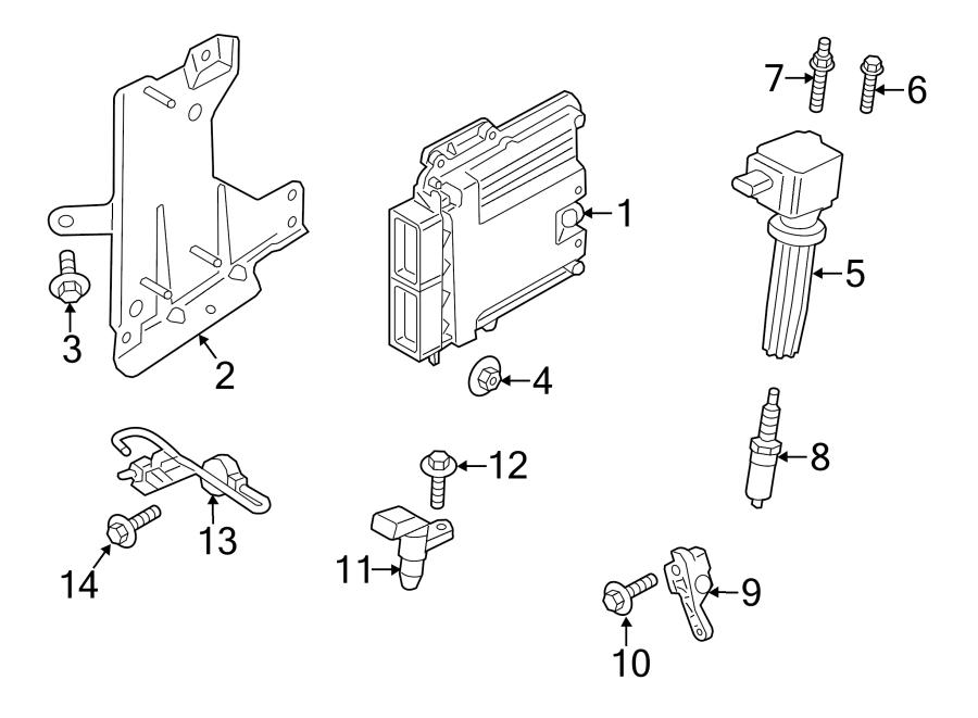Lincoln MKZ Engine Camshaft Position Sensor. LITER, Left