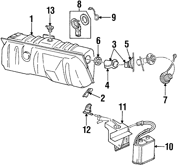 Mercury Grand Marquis Fuel Filler Neck Seal. 2003-06. GAS