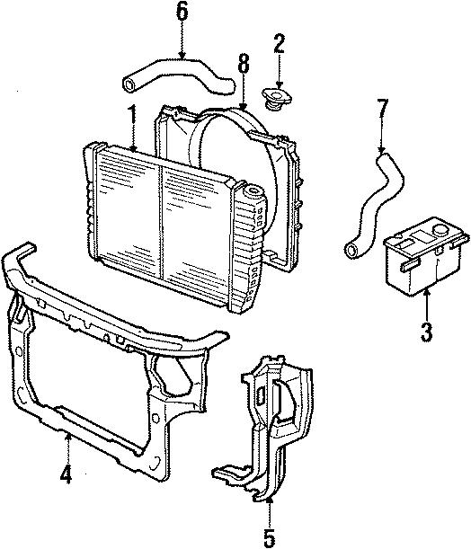 Mercury Cougar Radiator Cap. COOLING, FAN, LITER