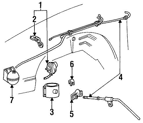 Mercury Cougar Cruise Control Actuator Clip. Telematics