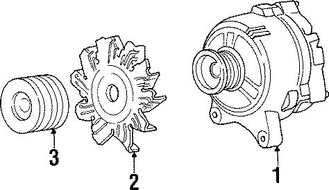 Mercury Cougar Alternator assembly. 130 amp. Alternator is