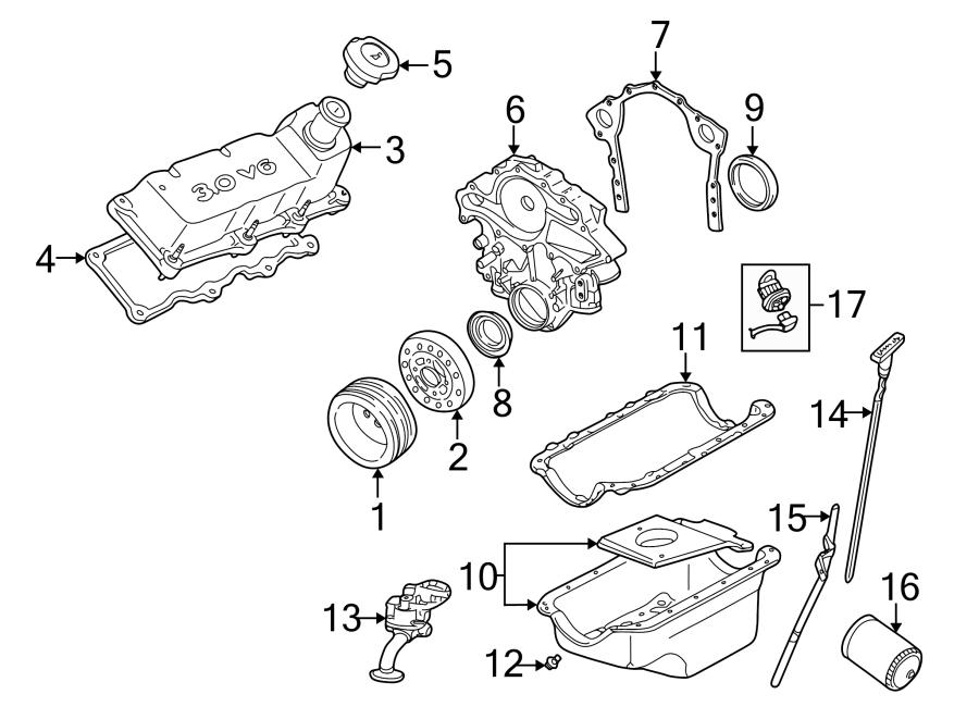 Mercury Sable Engine Crankshaft Seal. LITER, Vans, Pick