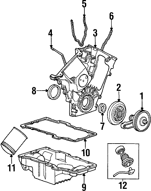 Mercury Sable Heating unit. 3.0 LITER DOHC, engine block