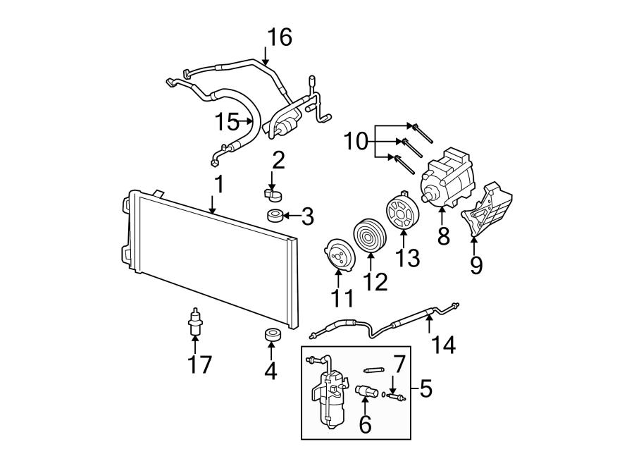 Ford F-550 Super Duty A/c compressor clutch coil. Liter