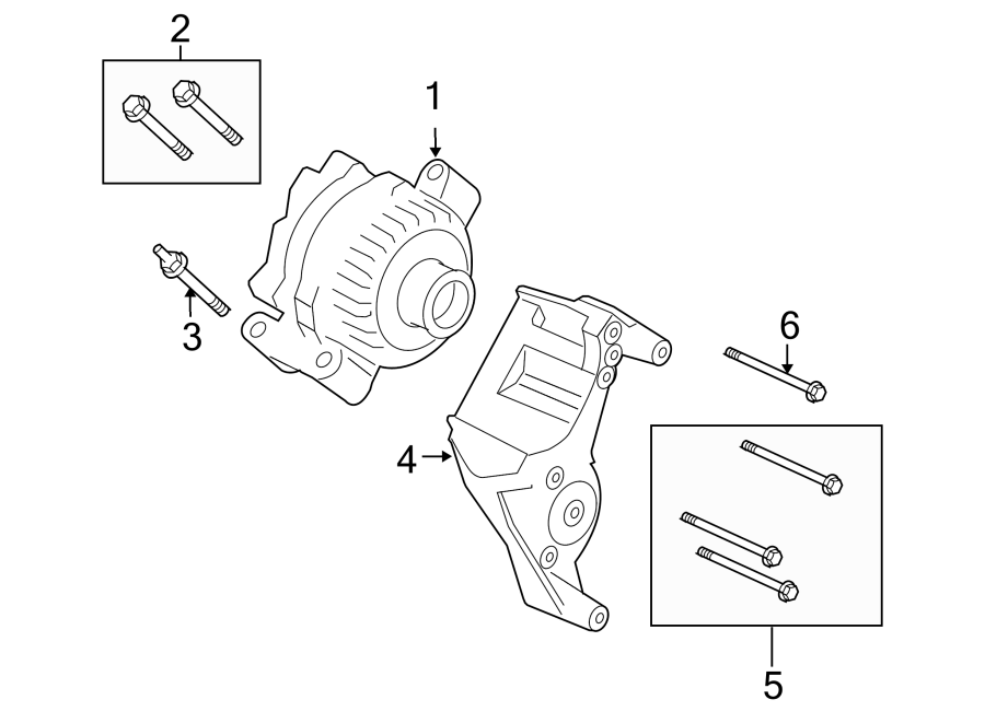 Ford F-150 Alternator assembly. Part is remanufactured