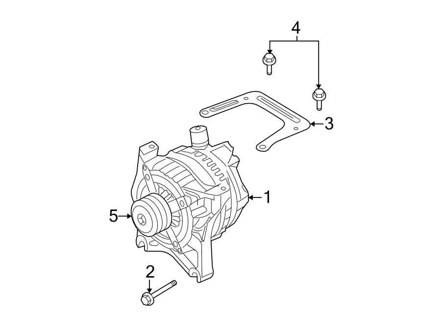 Ford F-150 Alternator Bracket. 4.6 LITER. 4.6 LITER 2