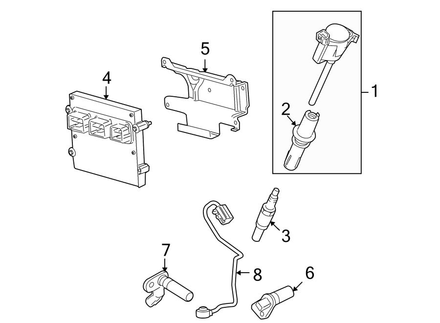 Lincoln Navigator Direct Ignition Coil Boot. LITER, VALVE