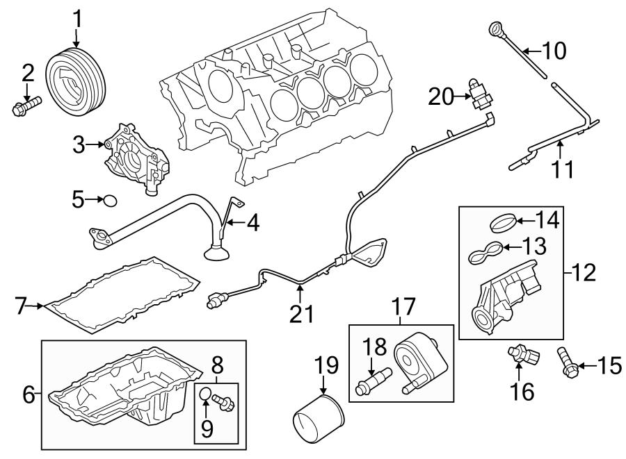Ford F-150 Engine Oil Filter Adapter Gasket. 6.2 LITER. 6
