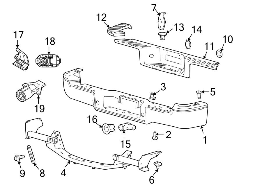 Ford F-150 Parking Aid Sensor Bracket. FLARESIDE, outer
