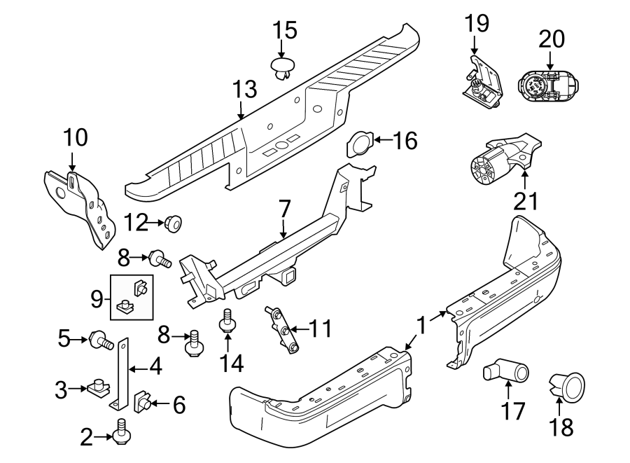 Ford F-150 Bumper Face Bar. STYLESIDE, chrome, w/reverse