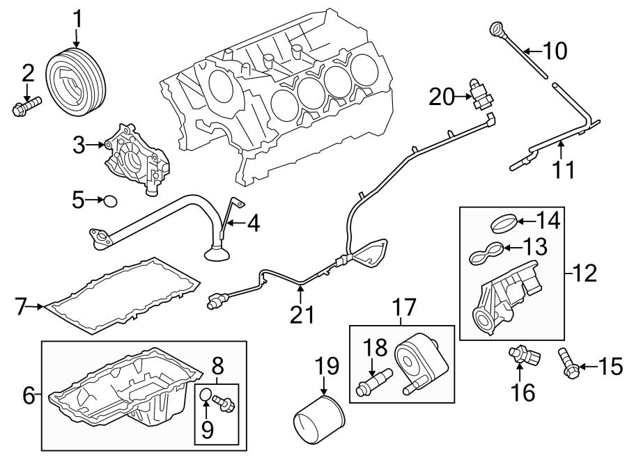 Ford F-150 Engine Oil Filter Adapter Gasket. Coolant, Leak