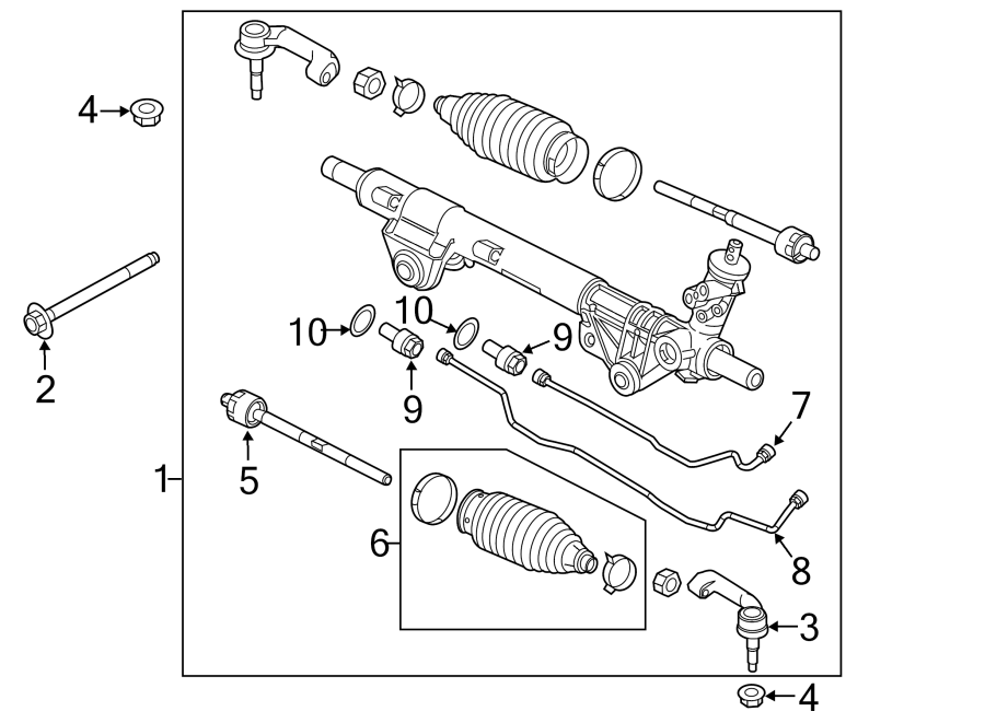 Ford F-150 Steering Tie Rod End. Right, Left, GEAR