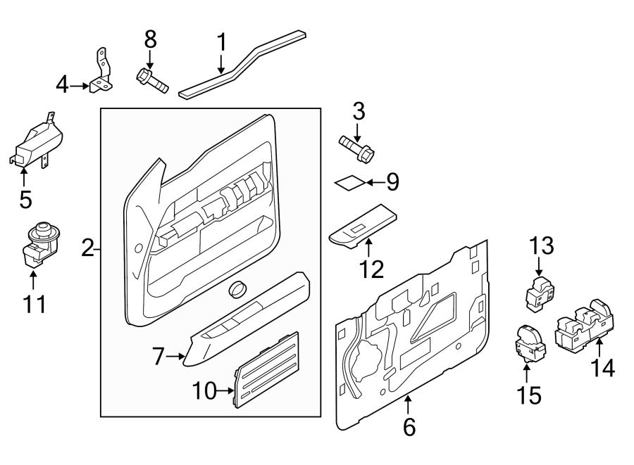 Ford F-150 Door Interior Trim Panel Bracket. MANUAL WINDOW