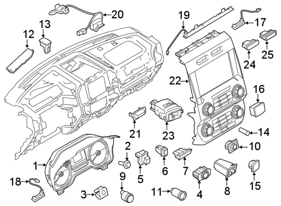 Ford F-150 Switch. Hazard. Warning. Flasher. 2018-20