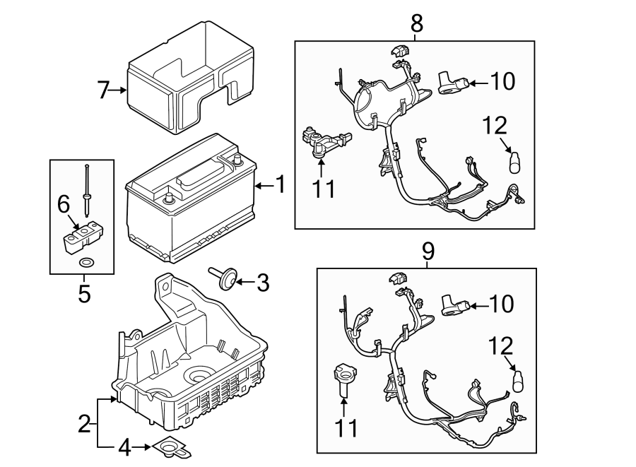 Ford F-150 Battery Current Sensor. Battery Temperature