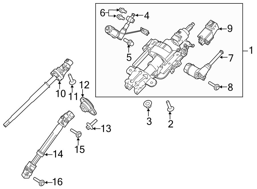 Ford F-150 Steering Column. F150; Power Tilt; w/Steering