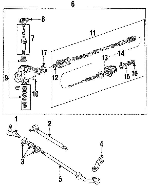 Ford E-250 Steering Gear Input Shaft Bearing. Mark, POWER