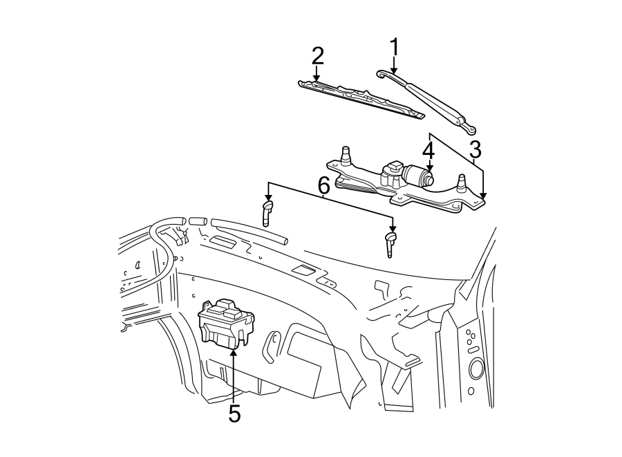 Ford F-150 Washer Fluid Reservoir. WINDSHIELD, Repair