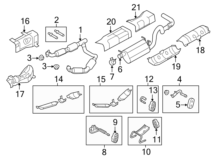 Ford E-350 Super Duty Exhaust Muffler. 6.8 LITER, 2009-14