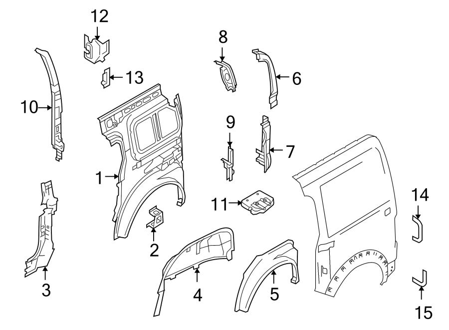 Ford Transit Connect Quarter Panel Extension (Rear, Lower