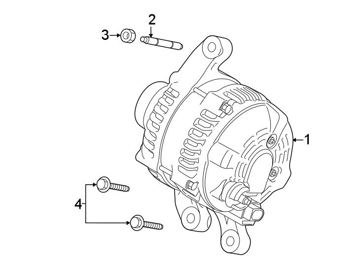 Ford Transit Connect Alternator. Battery, Amp, LITER