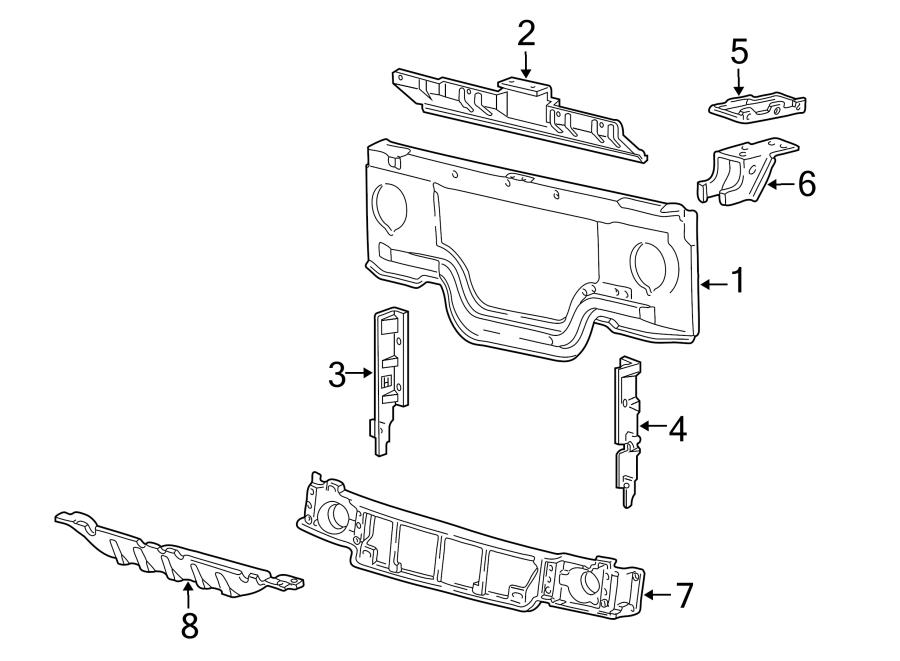 Ford E-250 Econoline Radiator Support Air Deflector