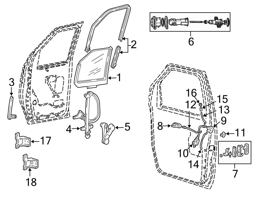Ford E-350 Econoline Club Wagon Door Lock Operating Rod