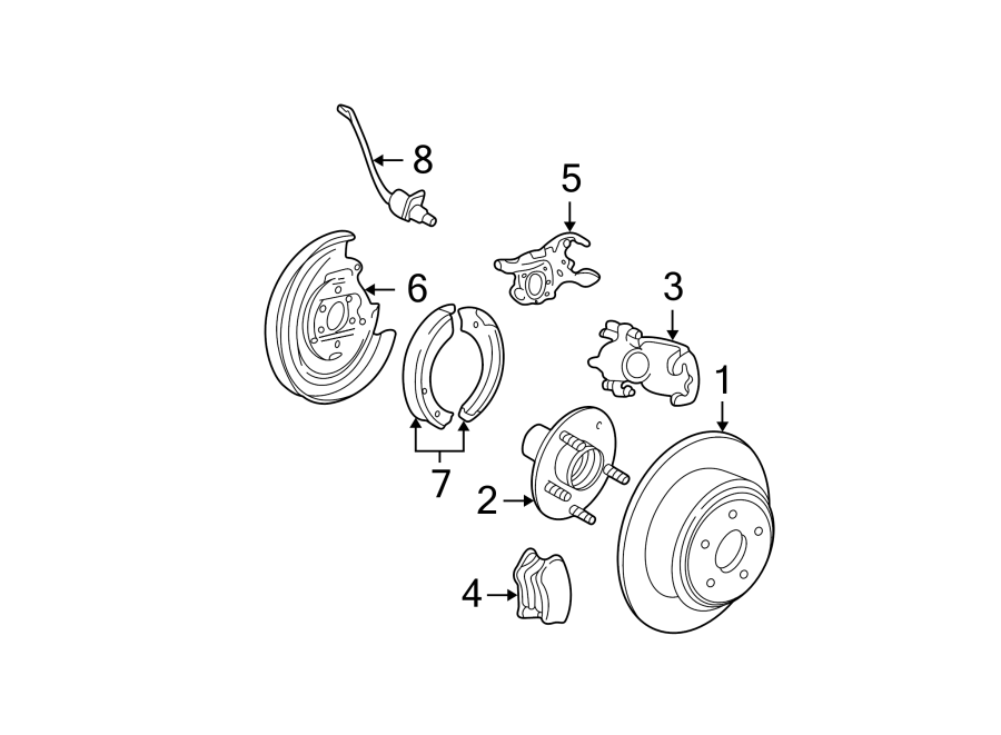 Ford Expedition Wheel Bearing and Hub Assembly. SUSPENSION