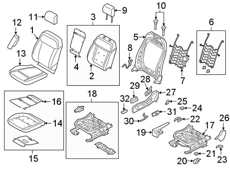 1996 Ford Ranger Seat Trim Panel. PASSENGER SEAT, manual