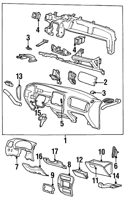 Ford Ranger Instrument Panel Bezel. Wfog, Lamps
