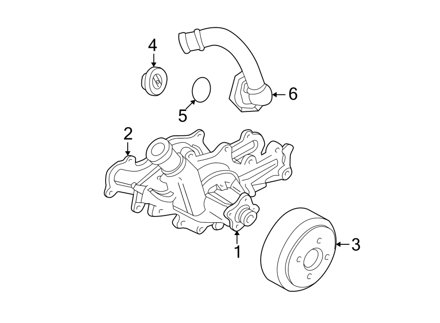 Ford Aerostar Engine Coolant Thermostat Gasket. 4.0 LITER