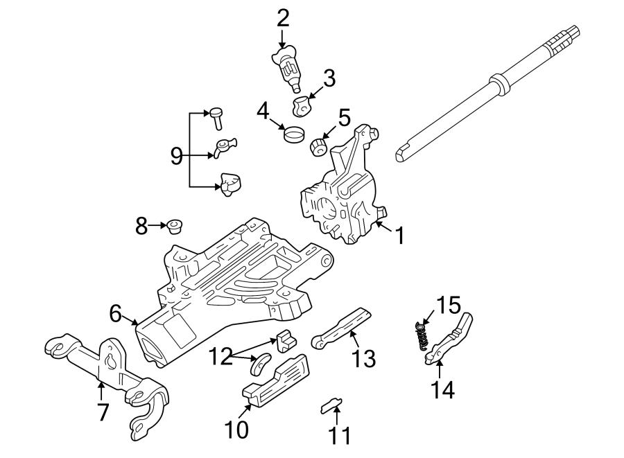 Ford Ranger Steering Column Spacer. W/O TILT WHEEL. W/O