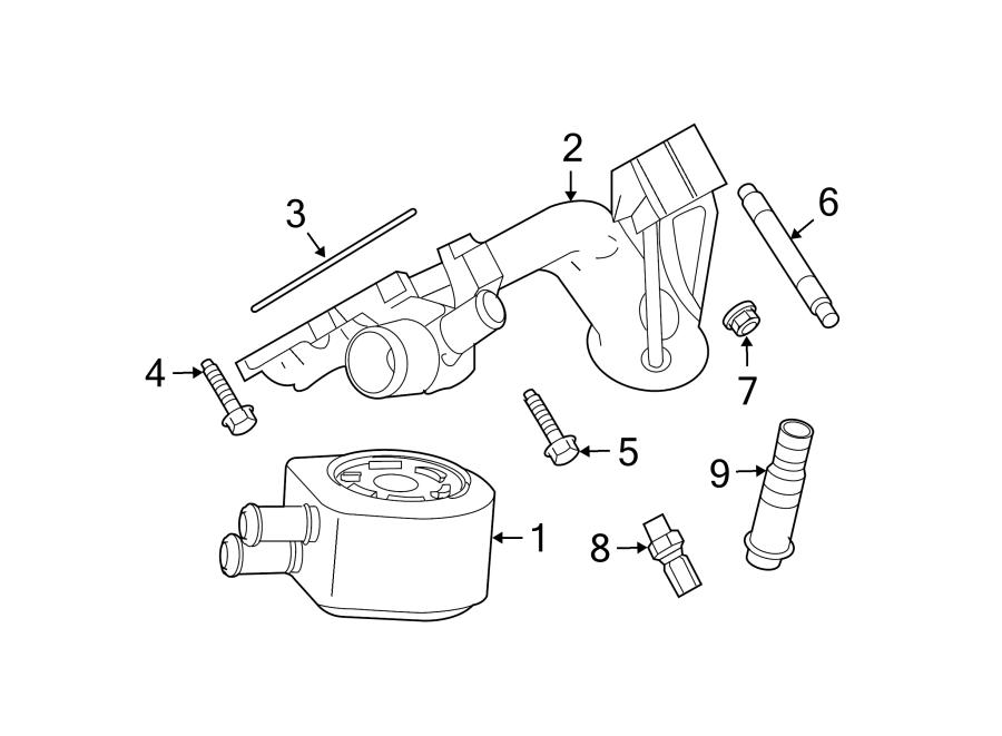 Ford F-350 Super Duty Engine Oil Cooler Adapter. 5.4 LITER