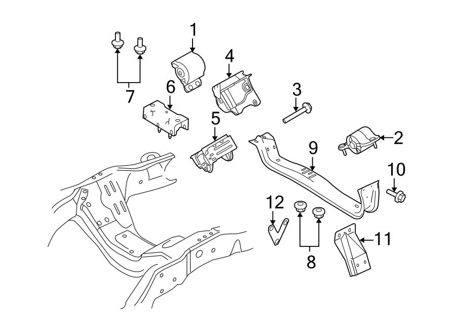 Ford F-350 Super Duty Mount. Transmission. INSULATOR