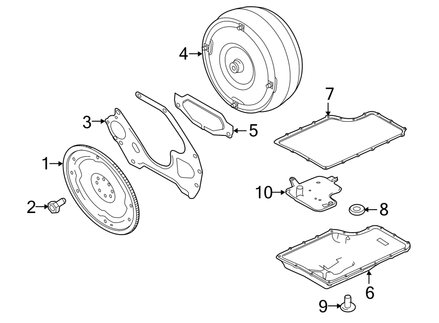 Ford F-250 Super Duty Automatic Transmission Flexplate. 6