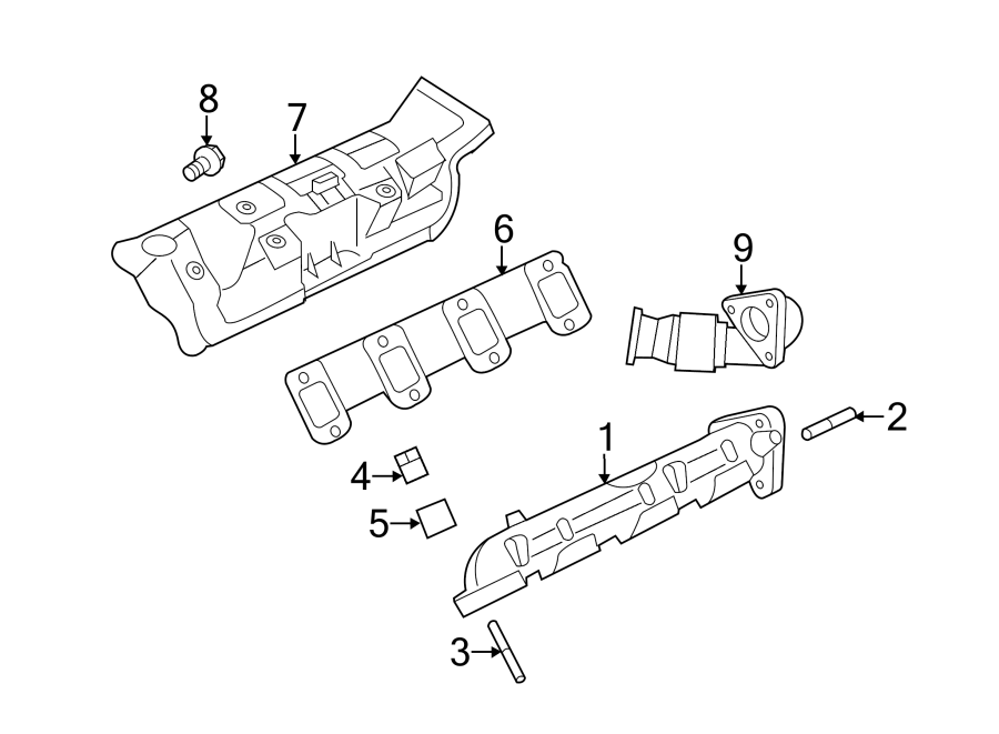 Ford F-250 Super Duty Exhaust Manifold. 6.7 LITER. F250