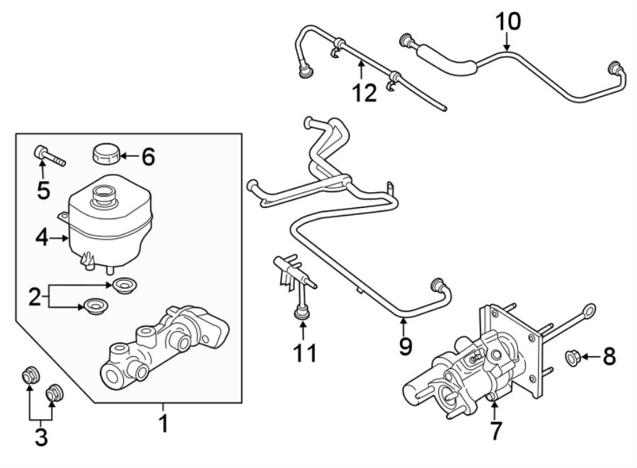 Ford F-250 Super Duty Nut. Brake. Cylinder. Master. Hex