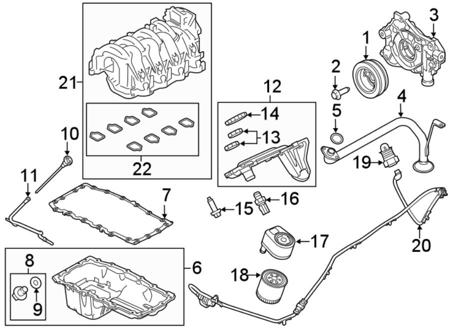 Ford F-250 Super Duty Engine Oil Filter Adapter Gasket