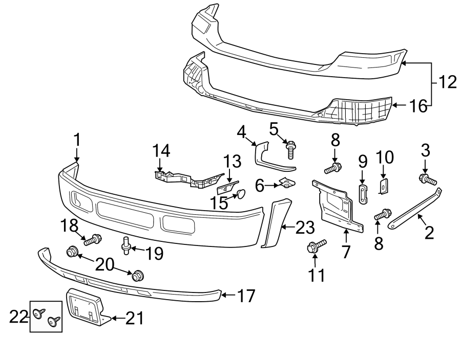 Ford F-550 Super Duty Valance Panel Clip. 2005-07. F250