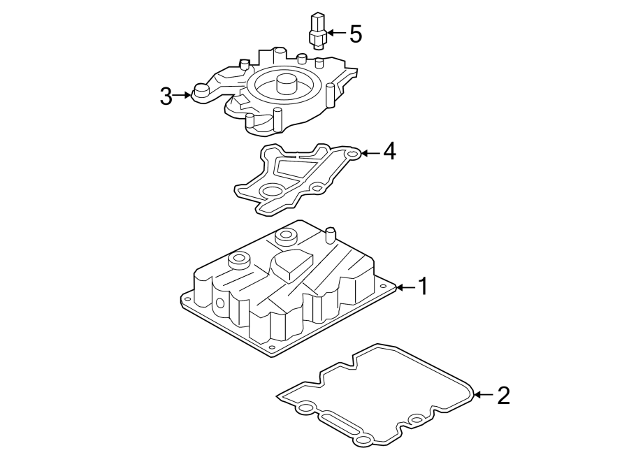 Ford F-250 Super Duty Engine Oil Cooler Gasket (Lower