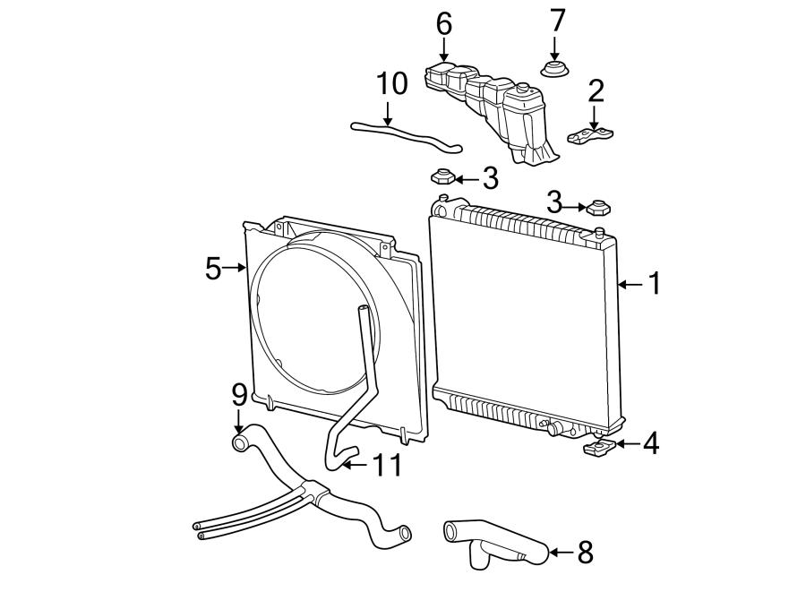 Ford F-250 Super Duty Radiator Coolant Hose. Diesel, LITER