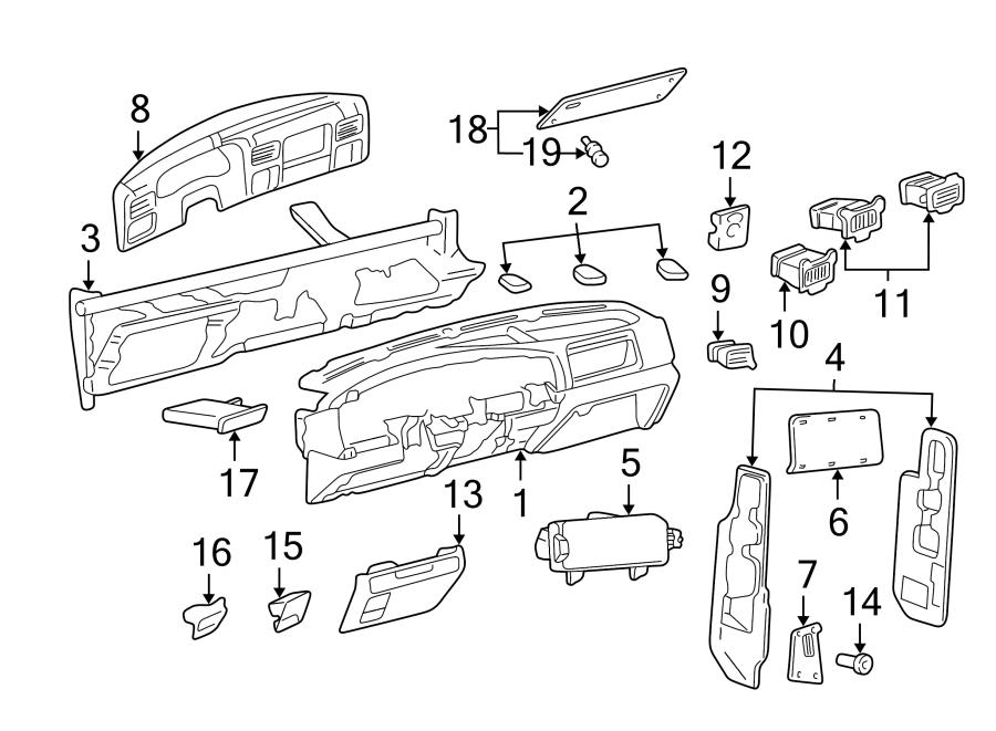 Ford F-550 Super Duty Instrument Cluster Bezel. W/o 4x4