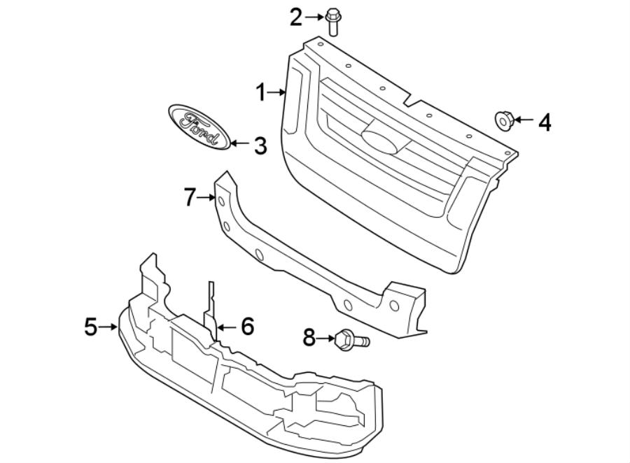 Ford Explorer Headlight Mounting Panel. 2006-10 W/O