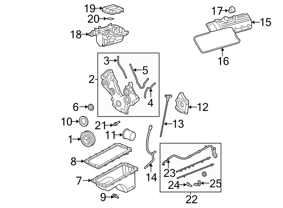 Ford Explorer Engine Timing Cover (Front). 4.6 LITER