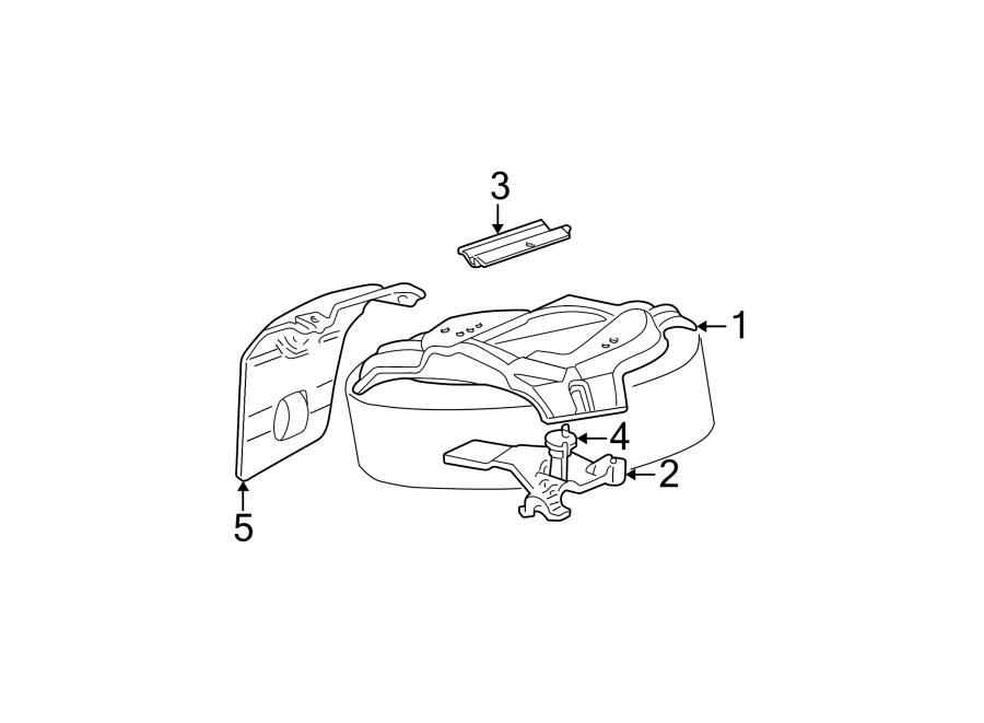 Ford Explorer Spare Tire Hoist. CARRIER, Plate, Mount